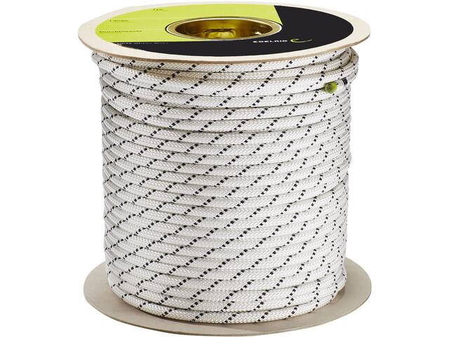 Edelrid Performance Static Rope 9,0mm x 100m, biały/czarny